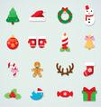 Christmas icon colorful set vector image