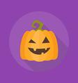 Halloween Flat Icon Pumpkin vector image