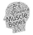 How the Skeletal Muscles cause Back Pain text vector image