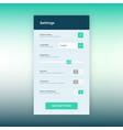 settings ui app design vector image