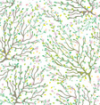 Spring branches and flowers seamless pattern - vector image