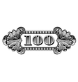 100 dollar label vector image