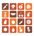 Flat Different kinds of fruits and Vegetable icons vector image