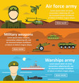 military force banner horizontal set flat style vector image