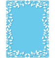 Floral frame with holly vector image vector image