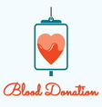 blood donation 3 resize vector image vector image