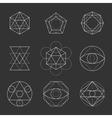 Sacred Geometry Shapes Spirituality Alchemy vector image