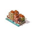 isometric Venice street vector image