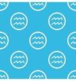 Aquarius sign blue pattern vector image