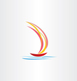 boat sailing on sea abstract design vector image