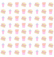 hamburger and french fries seamless pattern vector image