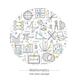 Modern color thin line concept of mathematics vector image
