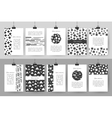 Set of creative black and white vintage cards vector image