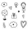Set of Valentines Day doodles vector image