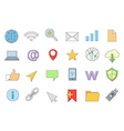Web connection icons set vector image