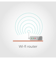 Wi-fi router vector image