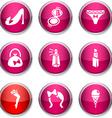 Women round icons vector image