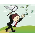 businessman catch a money  Manager vector image