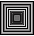tunnel optical illusion vector image vector image