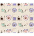 Cosmetics seamless pattern hand drawn Nail polish vector image