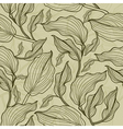 seamless floral leafs vector image vector image