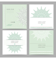 Set of ethnic circular greeting gentlecards and vector image