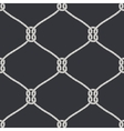 Seamless nautical rope knot pattern vector image