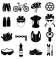 Bicycle rider icons set vector image