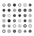 big set of gears vector image