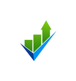 business finance chart check list logo vector image