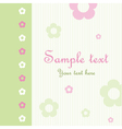 Floral Pattern Greeting Card vector image
