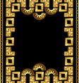frame in the style of gold of the Incas vector image
