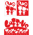romantic beautiful white and red concept vector image