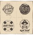 Set of vintage handcrafted pirates emblems labels vector image