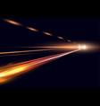 simulation of night traffic vector image