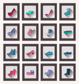 collection women and men shoes set Footwear vector image