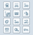 Car service icons - TECH series vector image
