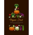 Organic vegetarian food emblem sign vector image