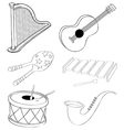 Silhouettes of the different kinds of musical vector image vector image