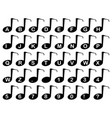 musical note alphabet vector image