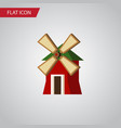 isolated wind energy flat icon rural vector image