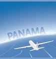 panama skyline flight destination vector image