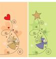 elf hearts stars vector image