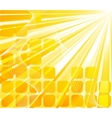 solar banner - orange card vector image