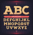 ancient alphabet memorial typeface carved from vector image