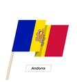 Andorra Ribbon Waving Flag Isolated on White vector image