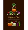 Organic vegetarian food emblem sign vector image