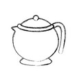 porcelain teapot isolated vector image