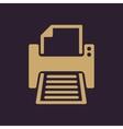 The printer icon Printing symbol Flat vector image