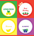 the stickers with fruits vector image